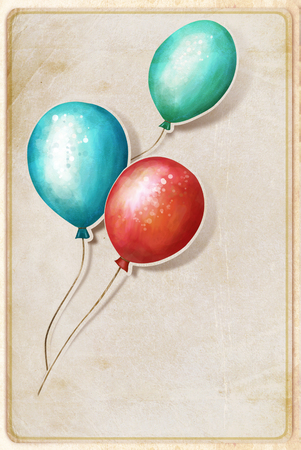 background with colorful balloons photo