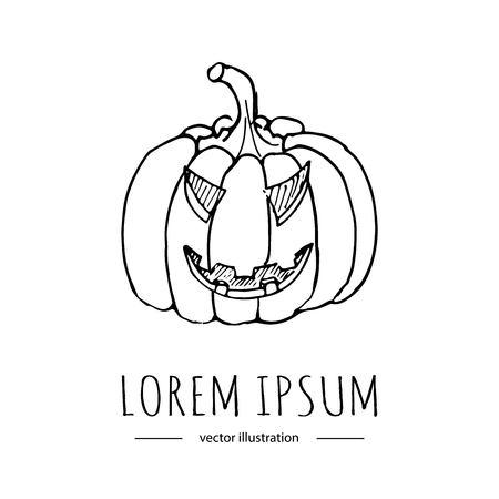 Doodle Dibujado A Mano Icono Relacionado Con Halloween Feliz ...