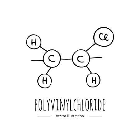 Hand getekende doodle Polyvinylchloride Stock Illustratie