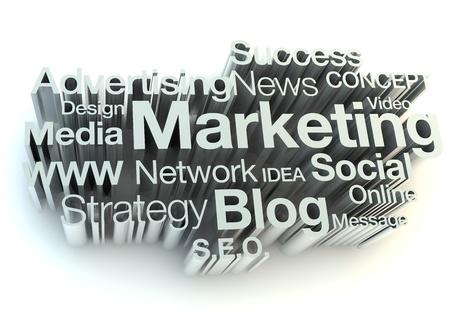 publicit�: Mots du marketing Banque d'images