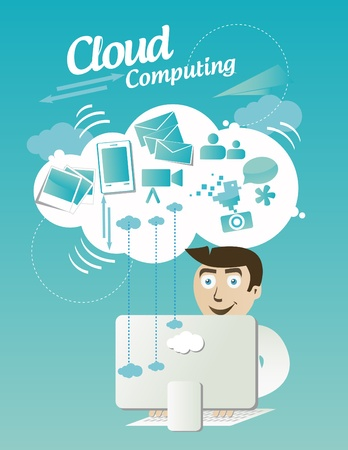 planing: Cloud computing Illustration