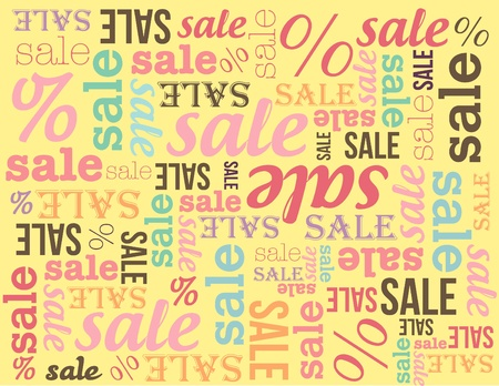 Sale banner on yellow background 向量圖像
