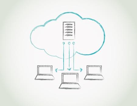 cloud computing Stock Vector - 12498271