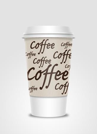 Tasse � caf� avec le label Banque d'images