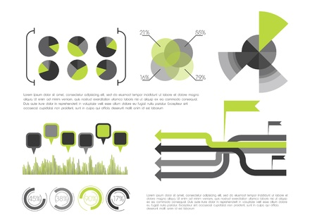 Green Infographic Stock Vector - 12498209