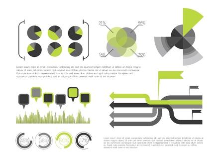 Green Infographic Stock Vector - 12498209