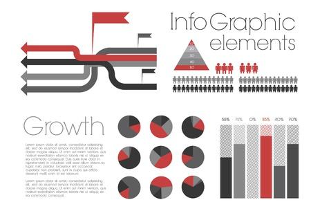 Infographie R�tro avec des �l�ments