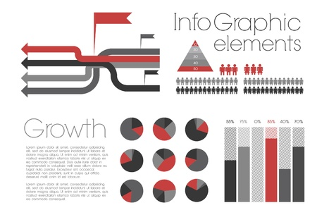 Retro Infographic with elements