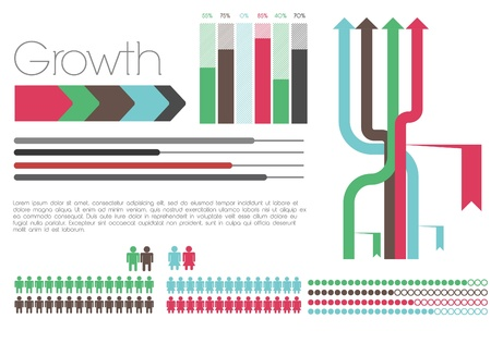 Retro Infographic with elements Stock Vector - 12497622