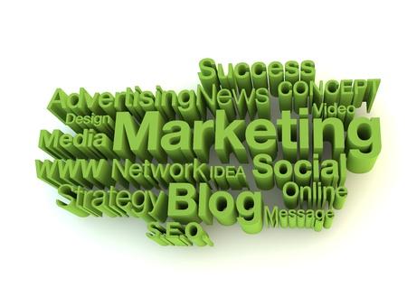 agencies: Green marketing words Stock Photo