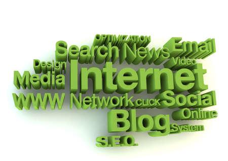 Internet green words concept photo