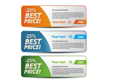 Best price banner Vector