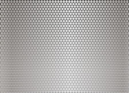 l plate: Silver metal background Illustration