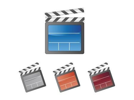 clapper board: Colorful Movie clapper