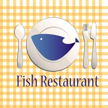 Fish restaurant illustration Stock Vector - 12498413