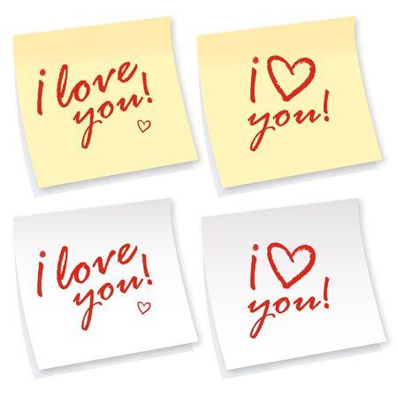 Love stickers Vector