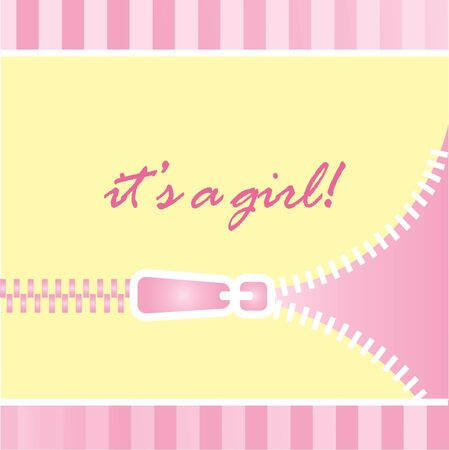 it girl: It s a girl baby announcement Illustration