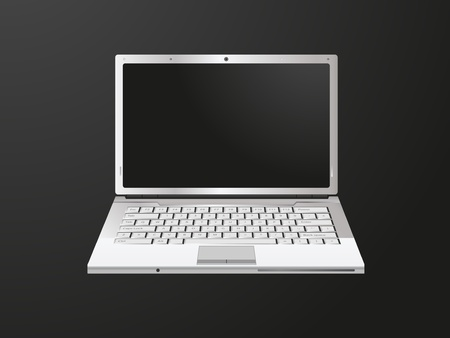 Laptop on black background Vector
