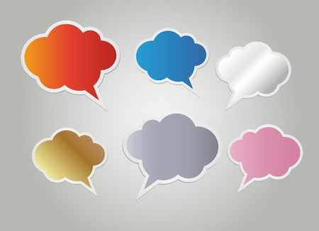 Funny colorful text bubbles and dialog balloons Vector