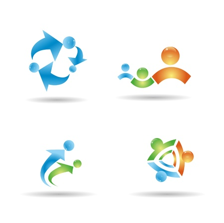 Collection of people icons Vector