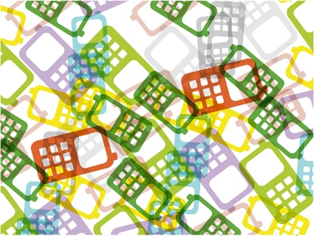 happy phone: mobile phone colorful background