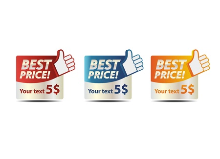 best: Best price banners Illustration