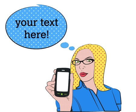 blond woman with cell phone Stock Vector - 12765920