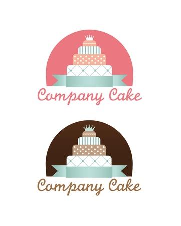 Cute cakes set Illustration