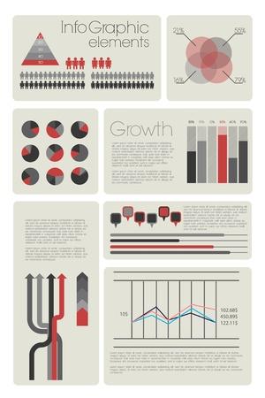 Infographie moderne avec des �l�ments