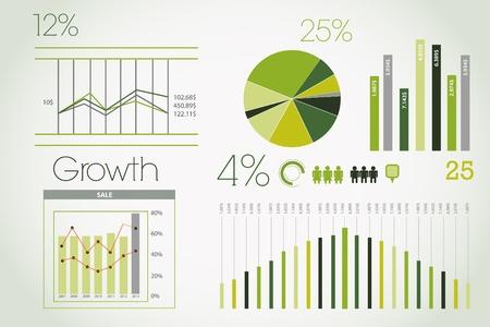 Green Infographic Vector