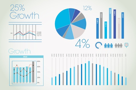 Blue infographic Stock Vector - 12998893