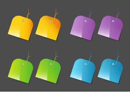 Colorful price tags Vector