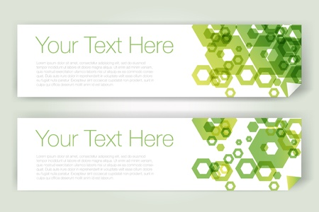 Horizontal geometric banners Vector