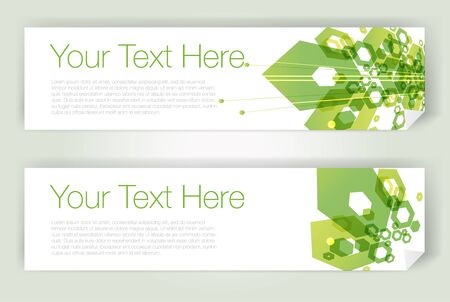 Horizontal geometric banners Vector