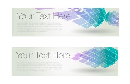 Horizontal geometric banners