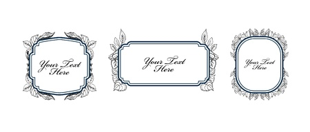 Set of floral labels Vector