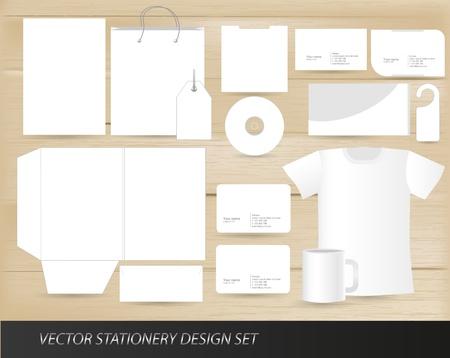 Vector cancelleria il design template set