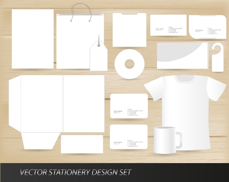 stationery background: Vector stationery design set template