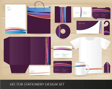 Vector stationery design set Vector