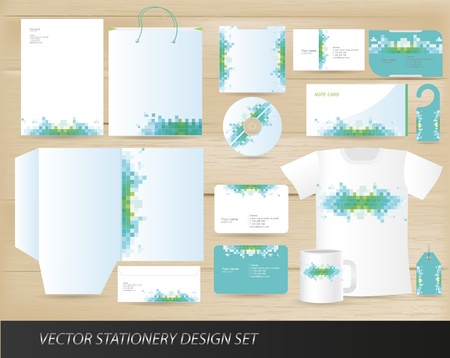 Vector stationery design set Stock Vector - 13396629