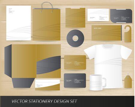 papier en t�te: Ensemble de conception de vecteur de papeterie