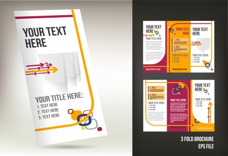 blank brochure: tri fold broshure vector file Illustration