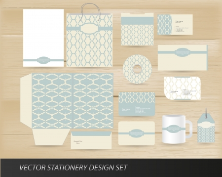 Elegant vintage stationery set Vector