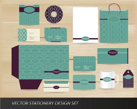 holiday invitation: Elegant vintage stationery set
