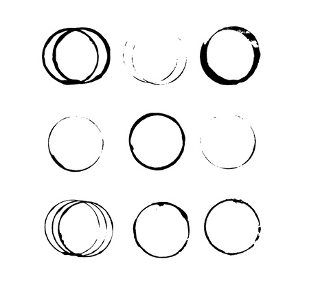 Taches circulaires humides Illustration