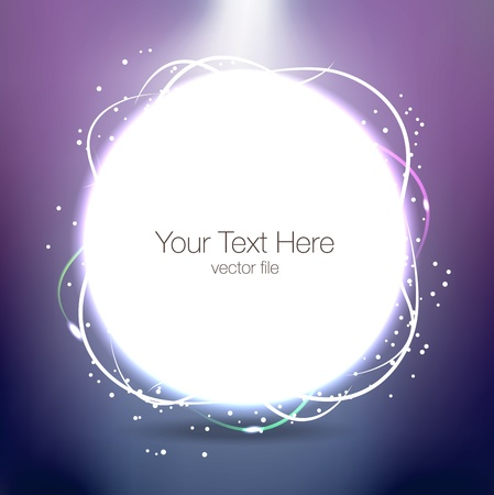 Abstract background with circle and sparkles Illustration