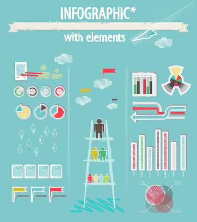 Infographique avec des �l�ments Illustration