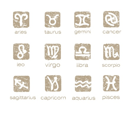 Zodiac horoscope signs vector set Vector