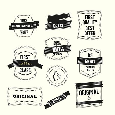 R�tro Vintage �tiquettes d�finir la qualit� Premium et th�me original