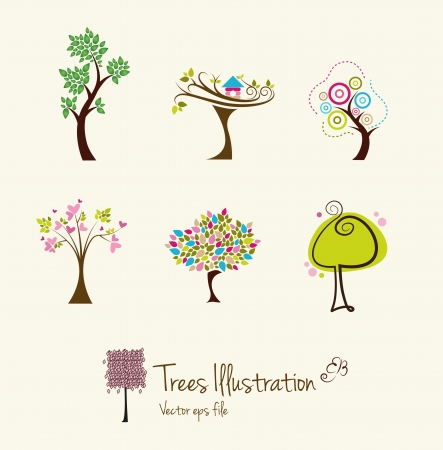 tree outline: Tree art illustrations Illustration